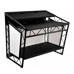 LiteConsole XPRS V2 Foldable DJ Booth (Black)
