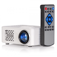 LTC Compact Sized Battery Powered LED Video Projector TV Display USB TF inc IR remote