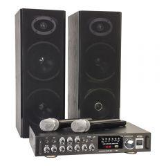 LTC Karaoke Sound System 200W USB SD 2x Wireless Mic