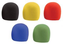 Pulse Microphone Windshield Pack of 5 Assorted Colours