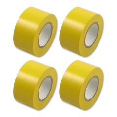 4x Multicomp PVC Insulation Tape 19mm x 33m Yellow DJ Disco Stage Lighting