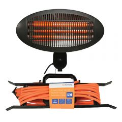 Wall Mounted 2000W Patio Heater Outdoor Garden inc 5M Outdoor Extension Lead