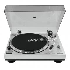 Omnitronic BD-1350 Turntable Silver Belt Drive inc Dust Cover DJ Disco Vinyl