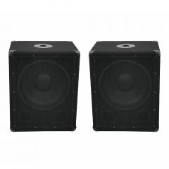 "2x Omnitronic BX-1250 Passive Subwoofer Bass Bins 12"" 600W"