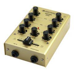 Omnitronic 2CH Mini DJ Mixer (Gold)
