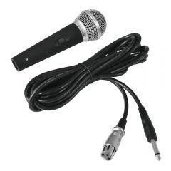 Omnitronic M-60 Dynamic Vocal Microphone Switched Band DJ Karaoke inc Case/Lead
