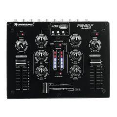 Omnitronic PM-211P DJ Mixer USB Player Mixing Console Disco Setup