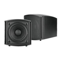 Omnitronic OD-2T Wall Speaker 100V Black Background Music Sound System Pair