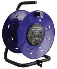 Pro Elec 2-Gang Plastic Empty Cable Reel Drum 280mm