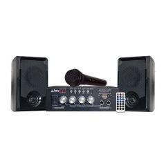Party Light & Sound Karaoke Set with USB, SD & Bluetooth