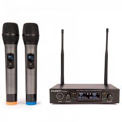 Kam KWM1932 Dual UHF Radio Microphone Handheld Wireless System Karaoke DJ