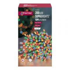 Premier 200 LED Multi Action SupaBrights Christmas Lights