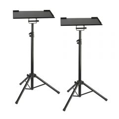 2x Pulse Projector Stand Tripod Laptop Holder Conference PA Presentation