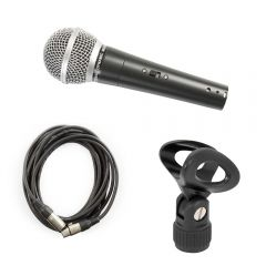 Pulse PM580s Dynamic Vocal Microphone inc. XLR Cable and Mic Clip