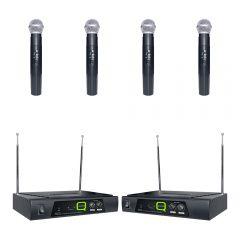 Q Audio QWM11 Quad Handheld Radio Mic System (Bundle)