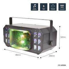 QTX Cortina Wide Angle LED Multi Effect Lighting