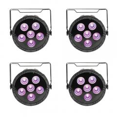 4x QTX PAR180 +UV High Power COB Par Can 6 x 30W RGB+UV LED Lighting +Remote