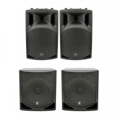 QTX 3000W PA System 2 x QLB15A Subwoofer + QX15A Active Speaker Package