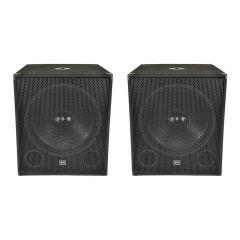 """QTX Sound QT18S 18"""" 500W Subwoofer Speakers (Pair)"""
