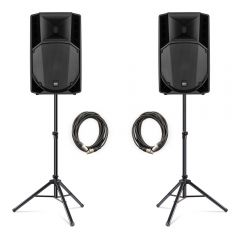 """2x RCF ART735-A (MK4) 1400W 15"""" Active Speakers inc. Stands and Cables"""