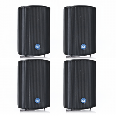 4x RCF DM41B 30W 100V IP55 Rated Background Speakers (Black)