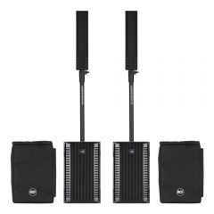 2x RCF EVOX8 Active 2Way Line Array Speakers inc. Speaker Covers