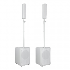 2x RCF EVOX JMIX8 Active 2Way Line Array System inc. Covers (White)