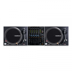 2x Reloop RP-4000M MK2 Direct Drive Turntables (Black) inc. RMX-60 Mixer