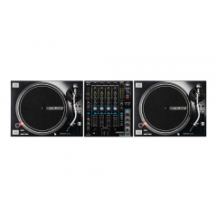 2x Reloop RP-7000MK2 Professional Direct Drive Turntables (Black) inc. RMX-90 DVS Mixer