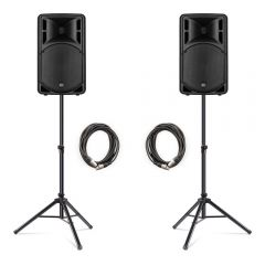"RCF ART315-A (MK4) Active 15"" Speaker 1600W PA System Bundle DJ Disco"