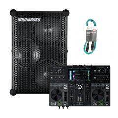 Denon Prime Go Battery Wireless Controller with Soundboks Loudest Battery Speaker