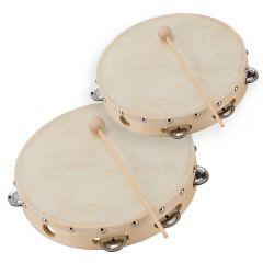 "Soundsation Jingle Tambourine Bundle - 1 x 6"" + 8"" Size Percussion"