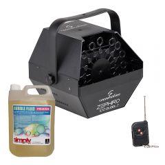 Soundsation ZEPHIRO100 Compact Bubble Machine inc. Wireless Remote & Fluid