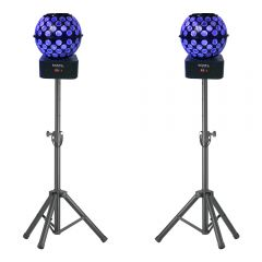Stagg Tripod Stands with 2x Ibiza Light Starball (Bundle)