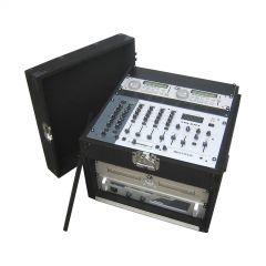 Jv Case CARPET DJ MIXER CASE 5U + 11U Flightcase CD Player Audio System