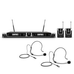 LD Systems U505 BPH 2 Dual - Wireless Mic System with 2x Bodypack and 2x Headset