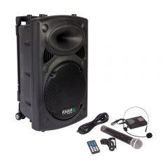 Ibiza Sound Portable Battery Powered Bluetooth PA System inc Wireless Mics *B-Stock