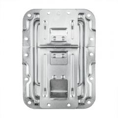 Adam Hall 270838 Lid Stay Large Cranked with Hinge, and Click-Stop Function