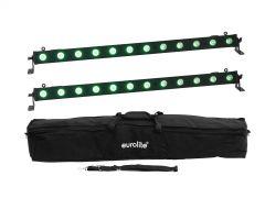 Eurolite Set 2X Led Bar-12 Qcl Rgb+Uv Bar + Soft-Bag