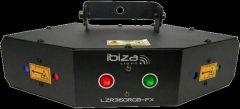 Ibiza Light Four Lense DMX Controlled Laser DJ Disco Lighting FX RGB *B-Stock
