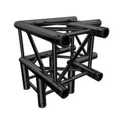 Global Truss F34 PL Stage Black 3 Way 90 Degree Corner (4126-30PL-B)