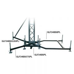 Global Truss Ground Support F34 PL BSB Steel Ballast Outrigger