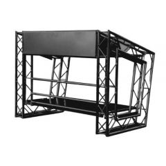LiteConsole MKII Black DJ Console Booth Lectern Show Stand Portable Collapsible