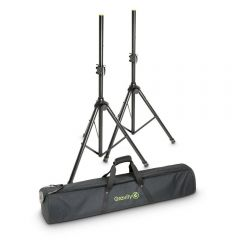 Gravity SS 5212 B SET 1 Speaker Stand Set of 2 Speaker Stands, Steel, and Bag