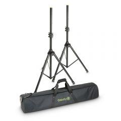 Gravity SS 5212 B SET 1 Speaker Stand Set of 2 Speaker Stands, Steel, and Bag