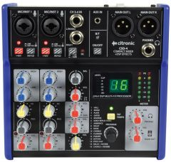 Citronic | CSD-4 Mixer With Built In Bluetooth Receiver & DSP Effects