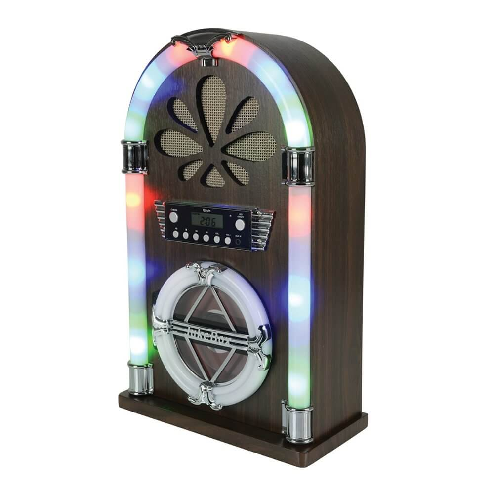QTX Roadhouse Mini Jukebox with Bluetooth, CD Player and FM Radio