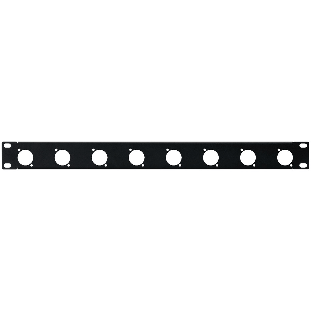 "Monacor 1U 19"" Connector Rack Panel for 8 x XLR Speakon Chassis Panel"