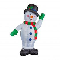 1.2m Christmas Inflatable Snowman with Hat and Scarf