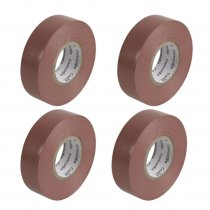 4x PVC Insulation Tape 19mm x 33m Brown Stage Lighting Sound Engineer DJ Cable Tape